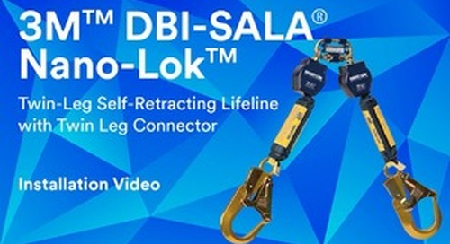 Twin-Leg Self-Retracting Lifeline with Twin Leg Connector Installation Video