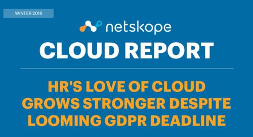 Netskope Cloud Report: HR and Marketing Cloud Usage Grows, Despite Looming GDPR Deadline